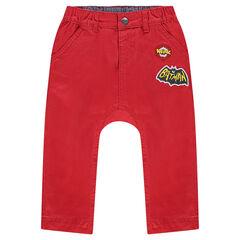 Παντελόνι τουίλ μονόχρωμο με μπάλωμα και στάμπα BATMAN