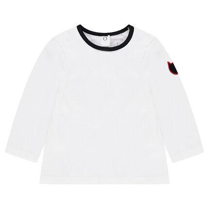 Μακρυμάνικη μπλούζα από ζέρσεϊ με σήμα σε σχήμα γάτας