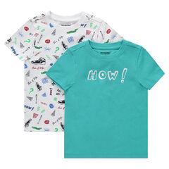 3d42dce5297c Σετ 2 κοντομάνικες μπλούζες