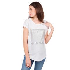 Κοντομάνικη μπλούζα εγκυμοσύνης με φαντεζί μήνυμα.