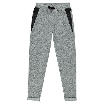 Junior - Pantalon loose en molleton avec détails simili cuir