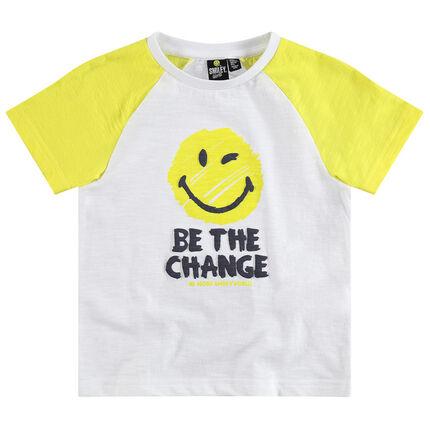 Κοντομάνικη μπλούζα με ρεγκλάν μανίκια και στάμπα ©Smiley