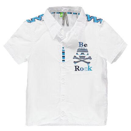 Κοντομάνικο πουκάμισο με μοτίβο έθνικ