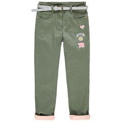 Παντελόνι από τουίλ με επένδυση ζέρσεϊ, σήματα Smiley και ζώνη με παγιέτες