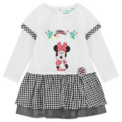 Φόρεμα 2 σε 1 της Disney με στάμπα Minnie και λεπτομέρειες με μικρό καρό