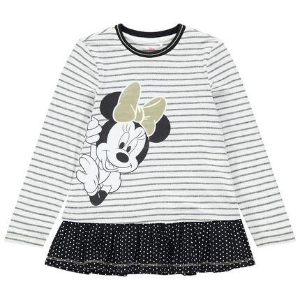 Μακρυμάνικη τουνίκ με ρίγες και στάμπα με τη Minnie της Disney