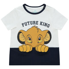 T-shirt manches courtes bicolore print Simba Disney , Orchestra