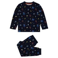 Βελουτέ πιτζάμα με μοτίβο εξωγήινους