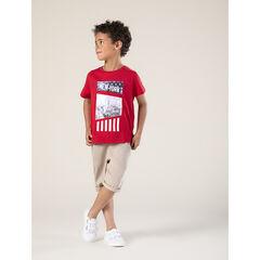 T-shirt κοντομάνικο με οργανικό βαμβάκι και σχέδιο φαντεζί  , Orchestra