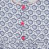 Robe évasée à fleurs fantaisie et rubans pailletés