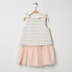 Αμάνικο φόρεμα για ειδικές περιστάσεις με ζακάρ μοτίβα από τούλι , Pomme Framboise