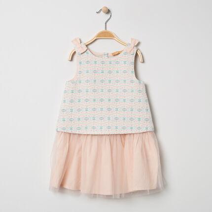 Αμάνικο φόρεμα για ειδικές περιστάσεις με ζακάρ μοτίβα από τούλι