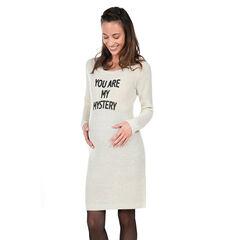 Μακρυμάνικο φόρεμα εγκυμοσύνης με μήνυμα
