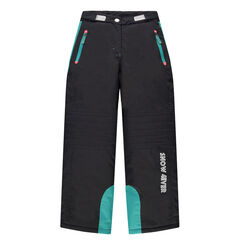 Παιδικά - Παντελόνι σκι με τσέπες με φερμουάρ και φάσες τιρκουάζ