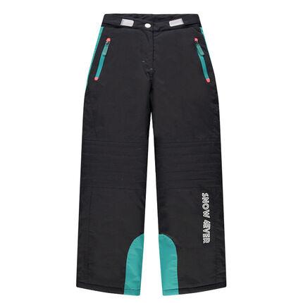 e9e8fd02588 Παιδικά - Παντελόνι σκι με τσέπες με φερμουάρ και φάσες τιρκουάζ ...
