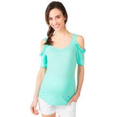 Μπλούζα εγκυμοσύνης με άνοιγμα στους ώμους