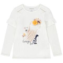 Μακρυμάνικη μπλούζα ζέρσεϊ με στάμπα πριγκίπισσα