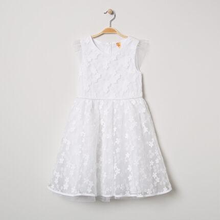 Επίσημο κοντομάνικο φόρεμα με κεντήματα