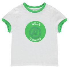 Κοντομάνικη ζέρσεϊ μπλούζα με μοτίβο από «μαγικές» πούλιες με τον Hulk των Εκδικητών της ©Marvel