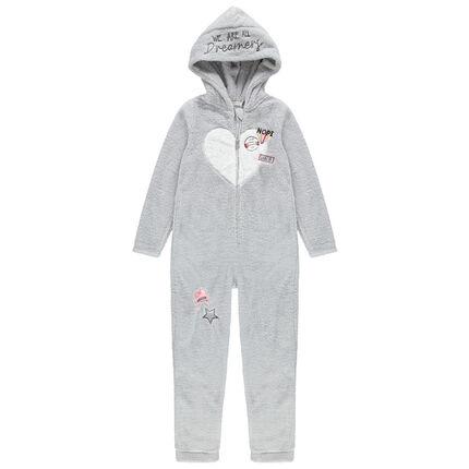 Junior - Surpyjama en sherpa avec détails fantaisie brodés