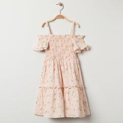 Φόρεμα με τιράντες βαμβακερό και λινό με σχέδιο floral σε όλη την επιφάνεια , Orchestra