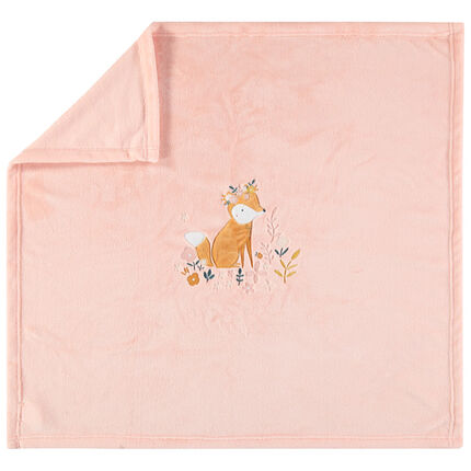 Κουβερτάκι βελουτέ με κεντημένη αλεπού