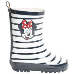 Μπότες βροχής με caoutchouc ριγέ σχέδιο Minnie Disney για κορίτσι , SAXO BLUES