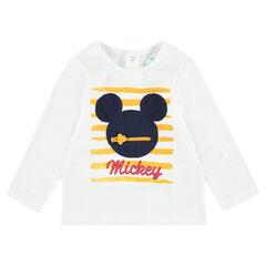 Μακρυμάνικη μπλούζα από ζέρσεϊ με μπάλωμα Mickey της ©Disney
