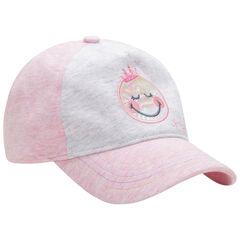 Δίχρωμο καπέλο με κέντημα Smiley