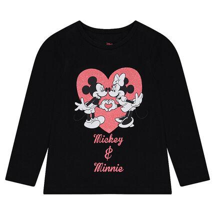 Μακρυμάνικη μπλούζα από ζέρσεϊ με στάμπα Μίκυ και Μίνι της ©Disney