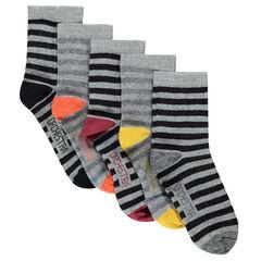 Σετ 5 ζευγάρια κάλτσες με ρίγες
