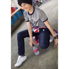 Παιδικά - Slim τζιν με used όψη και μόνιμες τσακίσεις και ξέφτια