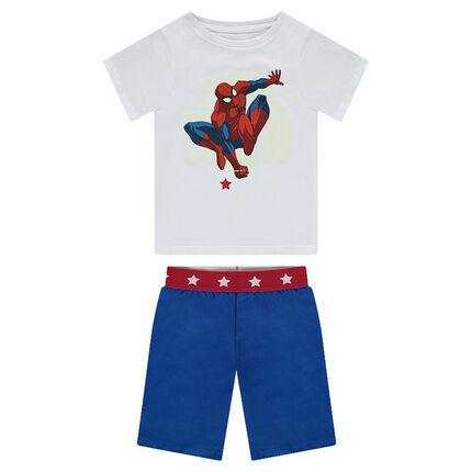 Ζέρσεϊ πιτζάμα με στάμπα Spiderman της ©Marvel που φωσφορίζει