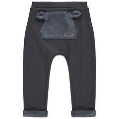 Pantalon de jogging en molleton à poche kangourou