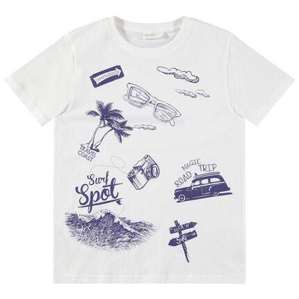 Παιδικά - Κοντομάνικη μπλούζα με καλοκαιρινές στάμπες