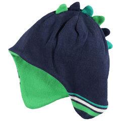 Bonnet péruvien en tricot avec crête en relief