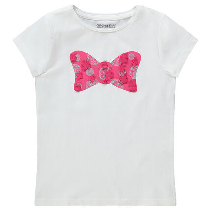 2281e3232eca Κοντομάνικη μπλούζα με διακοσμητική στάμπα και ανάγλυφες λεπτομέρειες