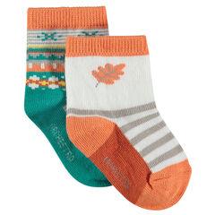 Ασορτί κάλτσες με ζακάρ μοτίβα