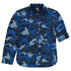 Παιδικά - Μακρυμάνικο πουκάμισο με μιλιτέρ μοτίβο