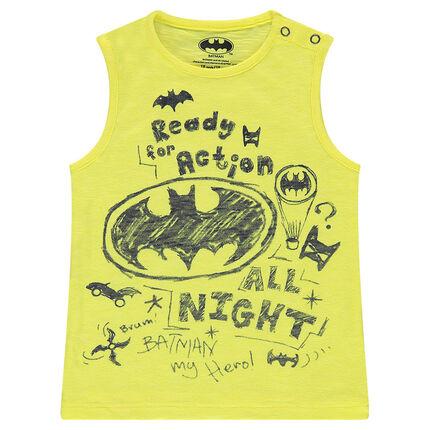 Αμάνικη μπλούζα από ζέρσεϊ slub ύφασμα με στάμπες Batman της  ©Warner