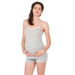 Φανελάκι εγκυμοσύνης για το σπίτι με ριμπ ύφανση
