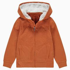 Παιδικά - Ζακέτα φανελένια και κουκούλα με επένδυση sherpa
