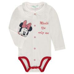 Φορμάκι ζέρσεϊ με στρογγυλό γιακά και στάμπα Minnie της Disney