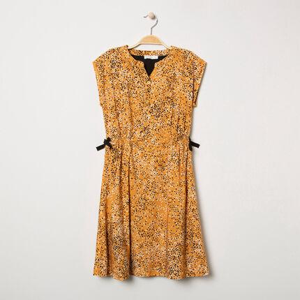 Παιδικά - Κοντομάνικο φόρεμα με πουά και φιόγκους