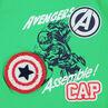 Δίχρωμο σύνολο κοντομάνικο από ζέρσεϊ με στάμπα Captain America ©Marvel