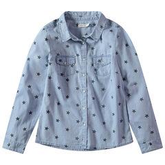Παιδικά - Μακρυμάνικο πουκάμισο με εμπριμέ μοτίβο αστέρια