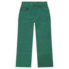 Μονόχρωμο ίσιο παντελόνι με τρουκ