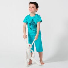 Κοντή πιτζάμα από ζέρσεϊ με διακοσμητική στάμπα