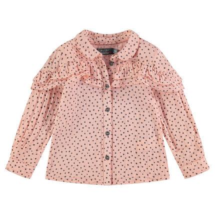 Μακρυμάνικο πουκάμισο με μοτίβο αστέρια και βολάν
