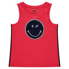 Παιδικά - Αμάνικη μπλούζα με μοτίβο ©Smiley από μαγικές πούλιες